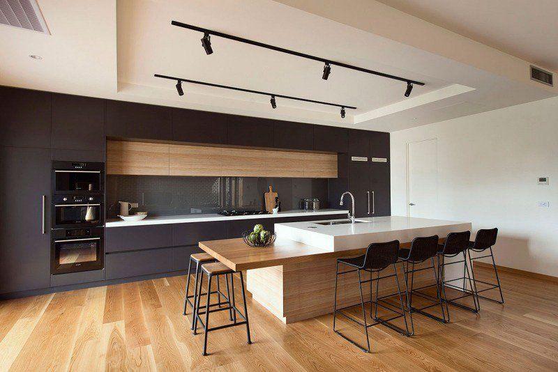 Design et conception cuisine u201380 cuisines élégantes Kitchens - cuisine avec ilot central et table