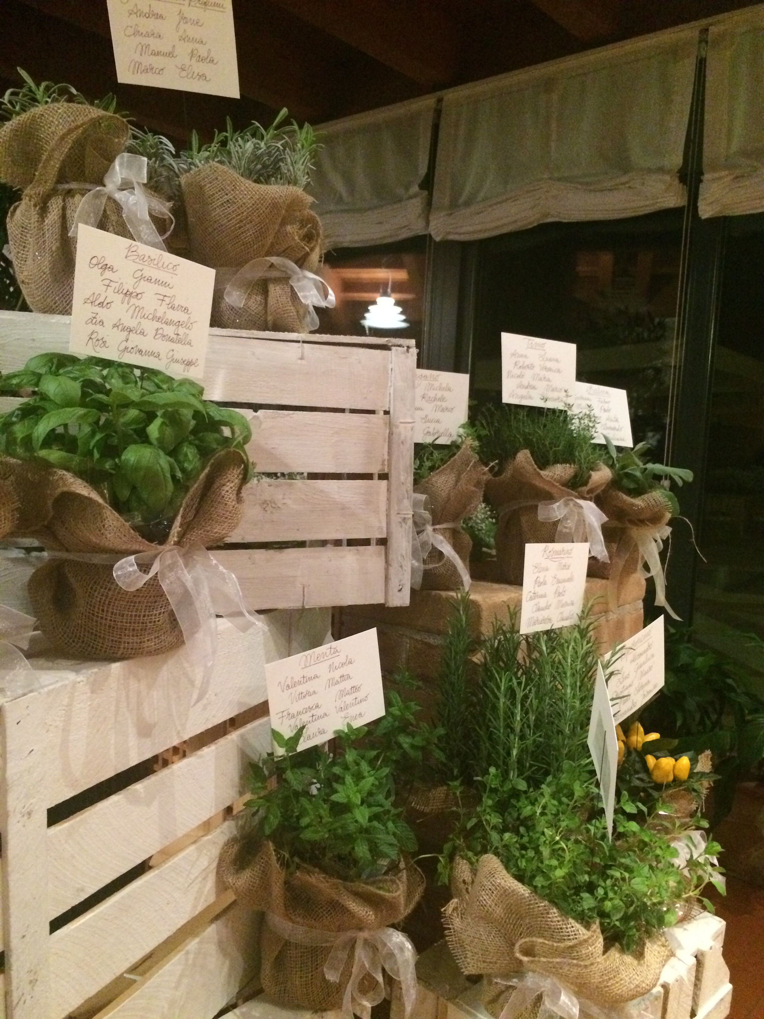 Tableau Matrimonio Tema Erbe Aromatiche : Tè e teiere per un matrimonio a tema aromatic plants