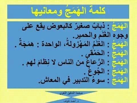 كلمة الهمج ومعانيها Arabic Language Words Quotes Beautiful Arabic Words
