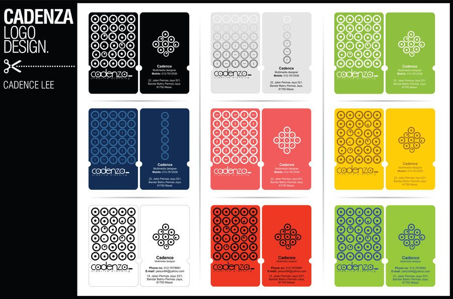 cadenza name card design 02 by iamcadence on deviantART Design - name card