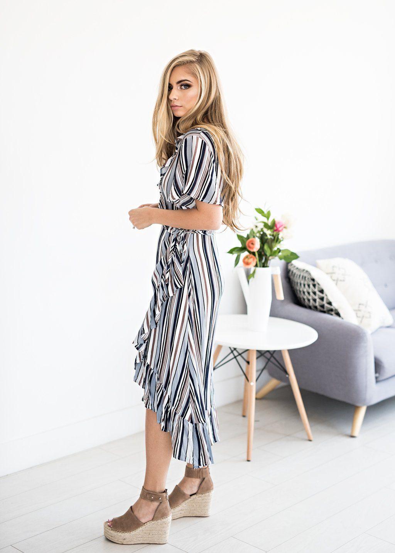 976e90f8bce Striped Shoppe Wrap Dress, Lucerne Wind Button-Down Dress, nursing friendly  dress,