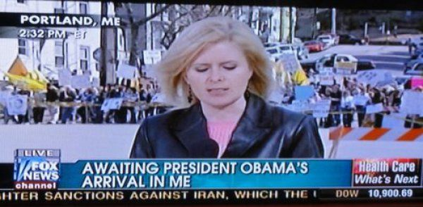 Awaiting Obama's Arrival in Me. Are you still waiting, or did he come?. maine, news, fox, Politics, barack obama, me, hand sanitizer