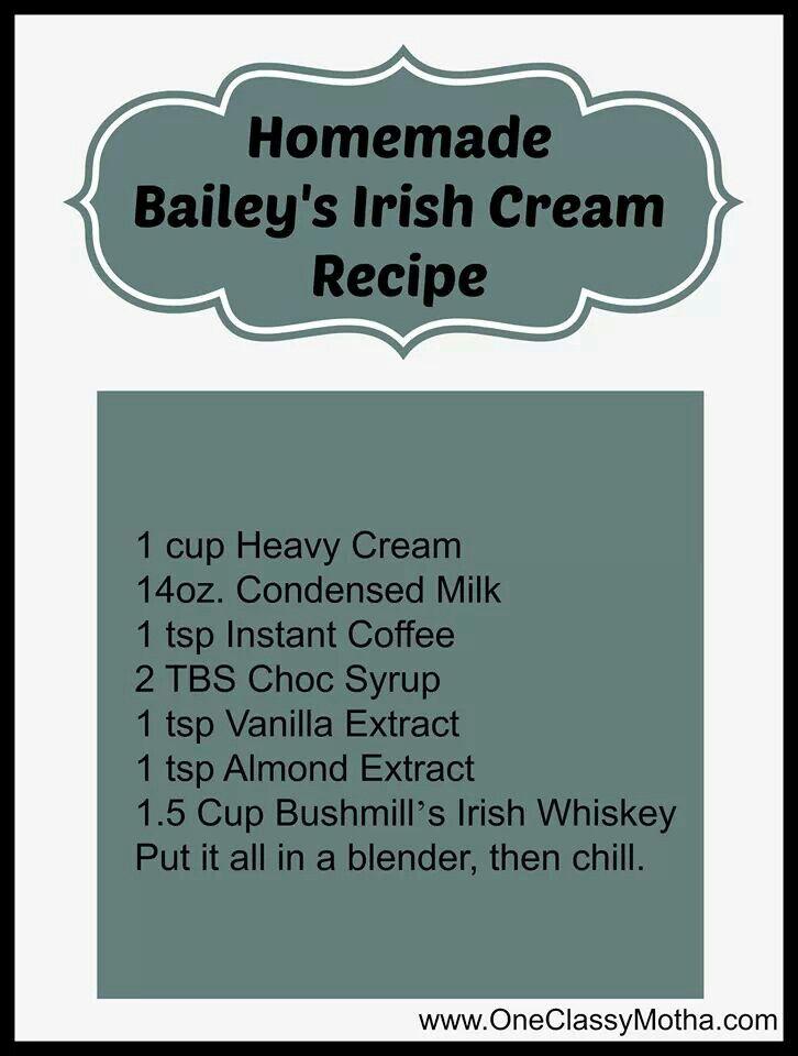 Homemade Bailey's Irish Cream