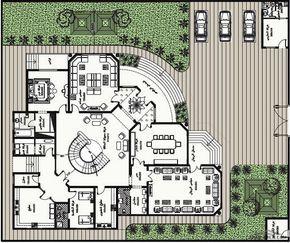 مخطط الفيلا رقم التصميم S2 من مبادرة بيتى 843 متر مربع Arab Arch Model House Plan Home Design Floor Plans House Outside Design