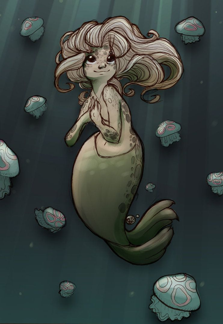 Selkie Midnight Moonlight by StressedJenny on deviantART