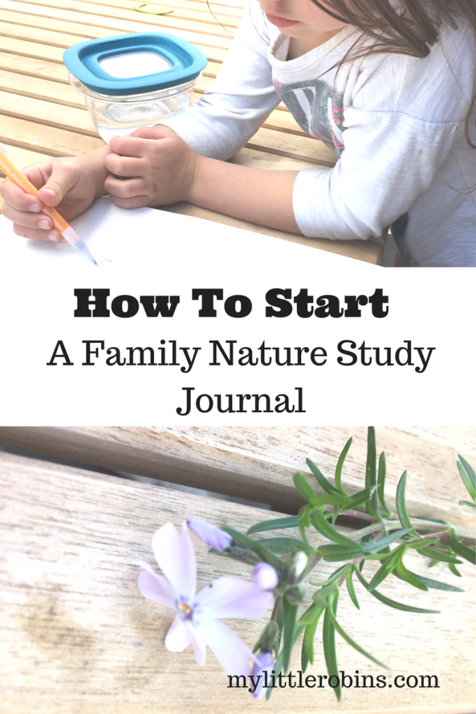 How to Start a Family Nature Journal- Involve young children in nature observations by keeping a journal with them.