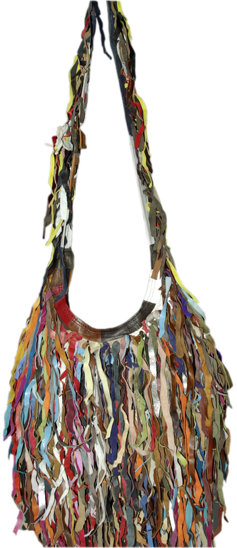 Mostrar detalles para Bolso Piel Tiras de Colores BNA-0912 | Bolsos ...