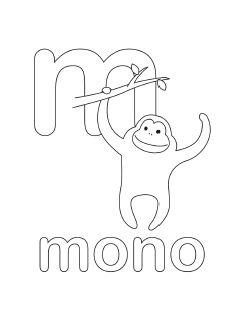alphabet coloring pages letter m