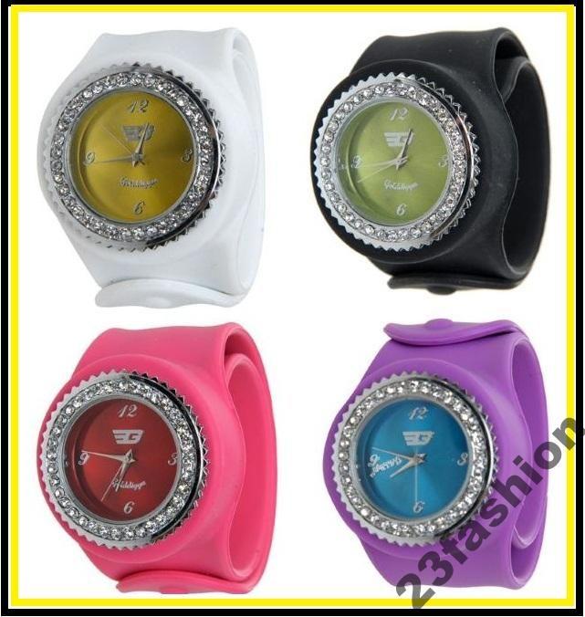 Zegarek Damski Golddigga Cyrkonie Jelly Watch Hit 3645228147 Oficjalne Archiwum Allegro Wearable Items Watches