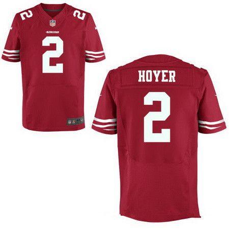 4425c6b18  22 San Francisco 49ers  2 Brian Hoyer Scarlet Red Team Color Nike NFL Elite  Men s Stitched Jersey