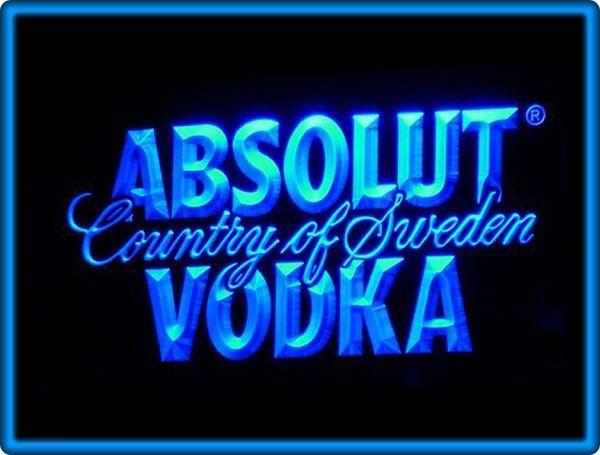 Absolut Vodka Country of Sweden Bar Pub Restaurant Neon