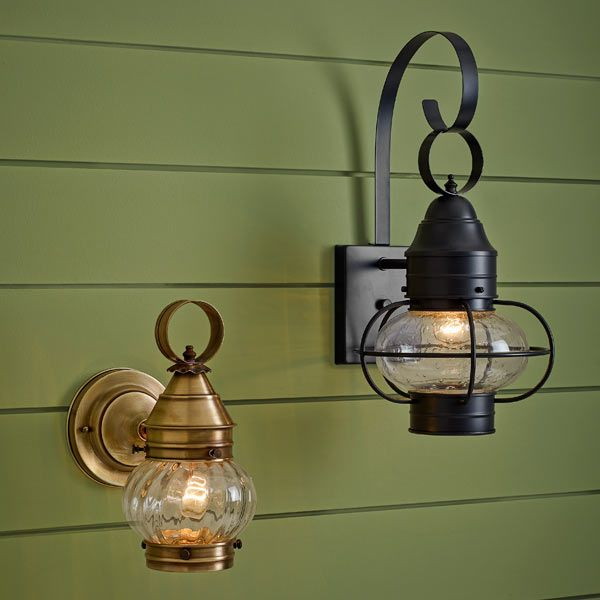 Nautical Inspired Onion Style Sconce Lights Add Coastal Cottage Charm To Your Home S Entry