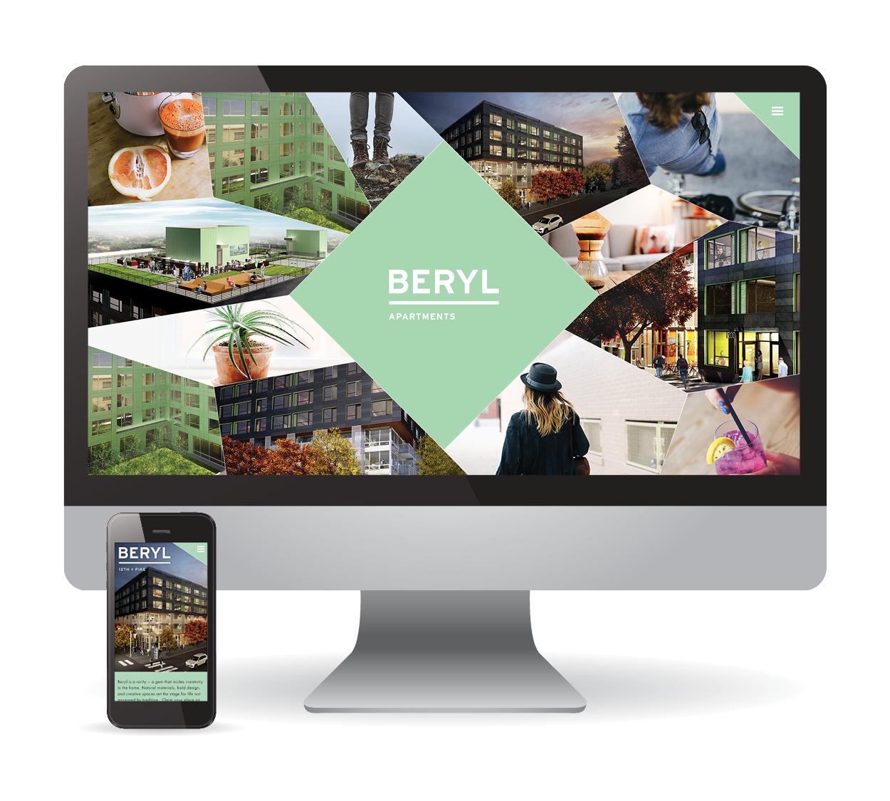Desktop And Mobile Responsive Web Design For Beryl Apartments In Seattle Wa Creative Branding Creative Portfolio Web Design