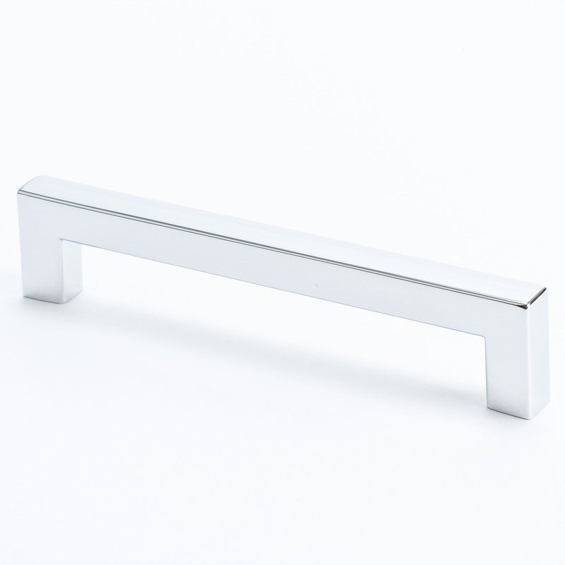 Christensen 9284 Square 5 Inch Center To Center Handle Cabinet Pull Chrome  Cabinet Hardware Pulls Handle
