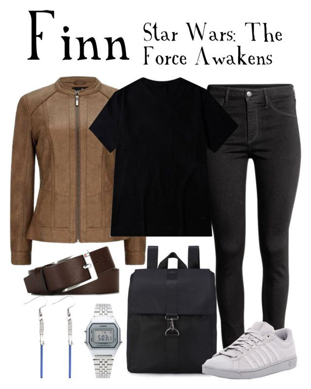 """""""Finn / Star Wars: The Force Awakens"""" by waywardfandoms ❤ liked on Polyvore featuring H&M, K-Swiss, Tommy Hilfiger, Casio, casual, starwars and disneycharacter"""