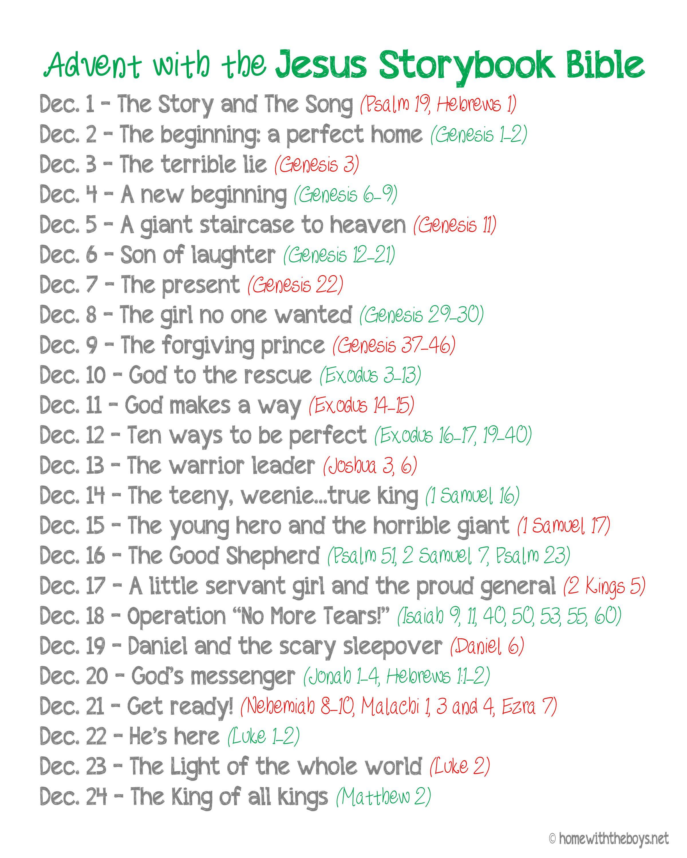 Jesus storybook bible advent reading plan free printable jesus storybook bible advent reading plan free printable fandeluxe Gallery