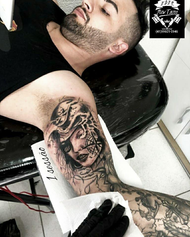 Eder Barbosa #tattoofechamentobraçoblackandgray #tattooink #tattoodo #instanize #tattoobr  para orçamentos chamar inbox ou whats 🔴(41)99601-0946🔴EDER🆕️TATTOO