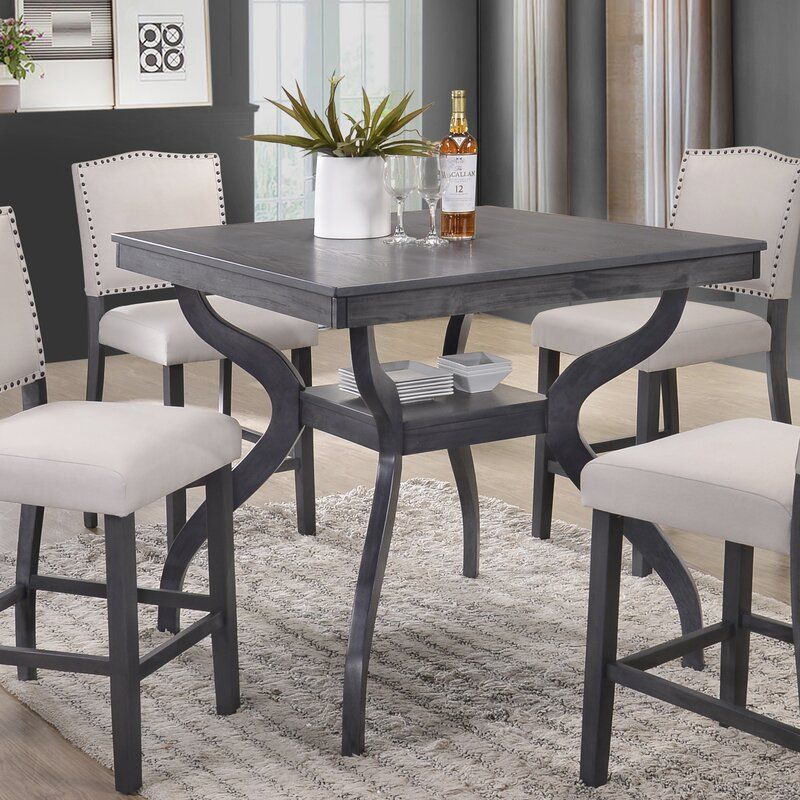 White Cane Outdoor Furniture, Darby Home Co Newton Counter Height Dining Table Wayfair In 2020 Dining Table High Dining Table Contemporary Dining Room Sets