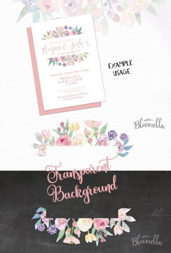6 Aquarell Candy Pink Leaf Flower Frames Clipart – handgemalte Sommer INSTANT DOWNLOAD PNGs lila hübsche Girlanden verlässt digitale Kunst   – Products
