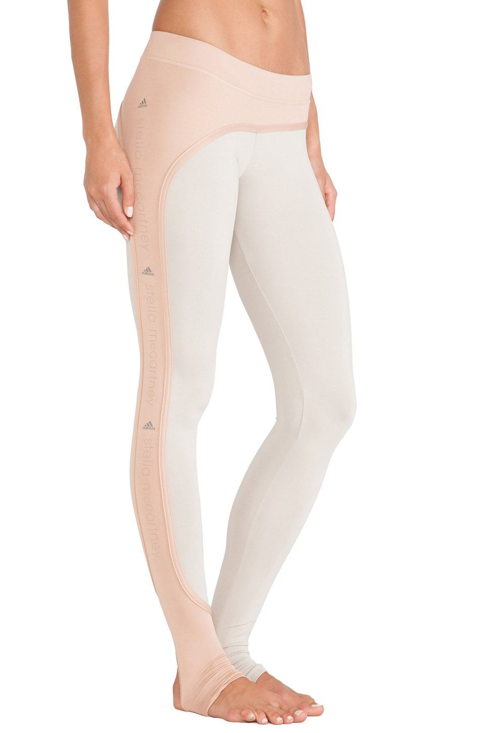b6c92a605fb9b Adidas By Stella Mccartney Studio Performance Long Tights Shell Beige/Rose  Tan at Amazon Women's Clothing store: