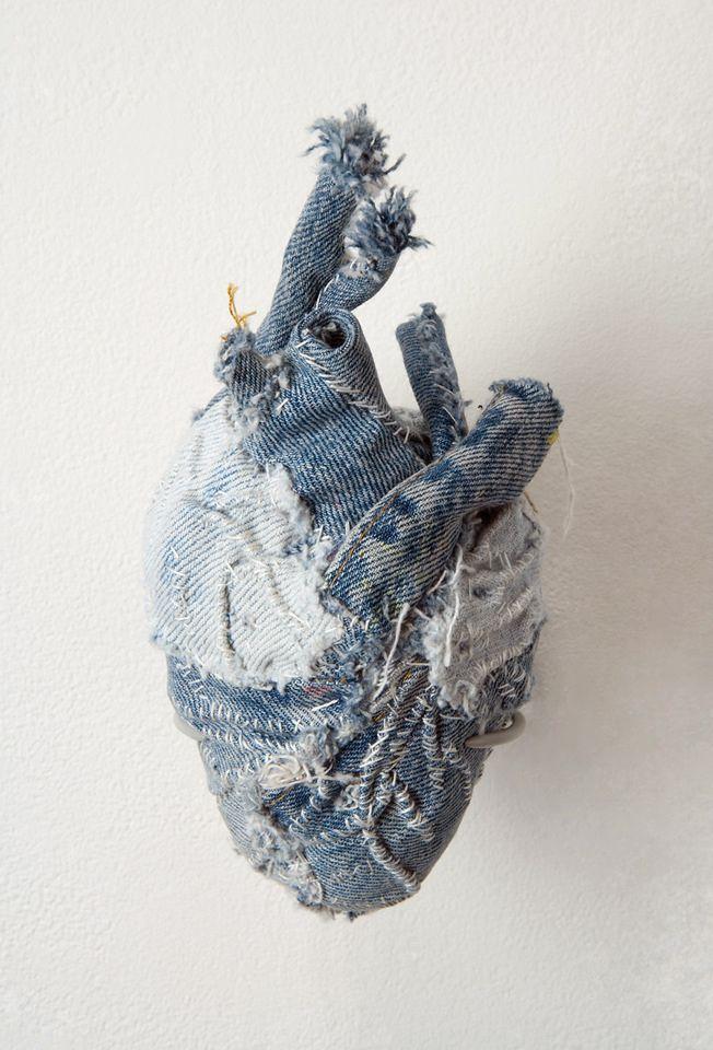 Ragged Heart | art | Pinterest | Jeansjacken, Herzchen und Nähen