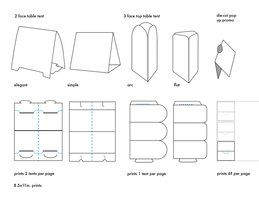 Table Tent Template Download - Wedding table tents