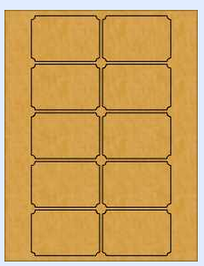 Brown Kraft Ticket Shaped Labels   #supplies_sources #crafts