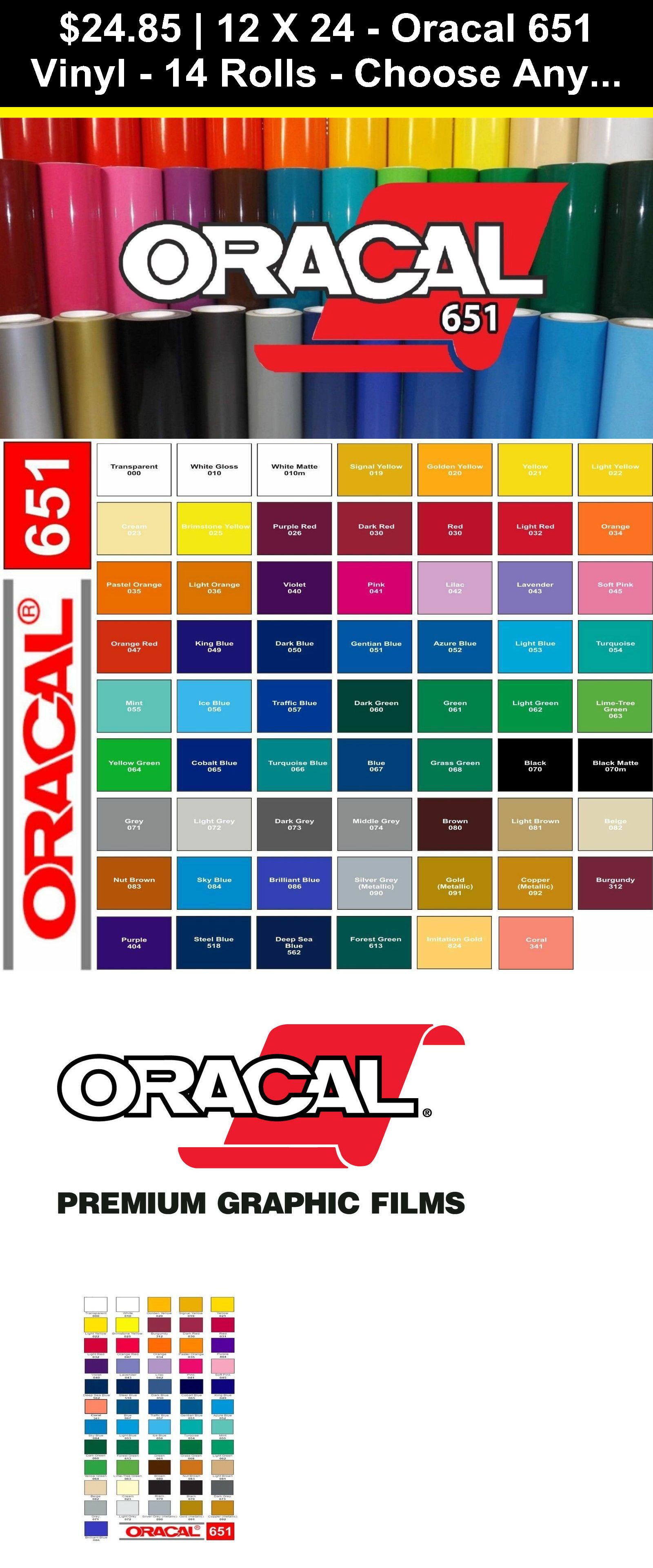 "Oracal 651 24/"" x 10yds matte black permanent outdoor sign vinyl for decals"