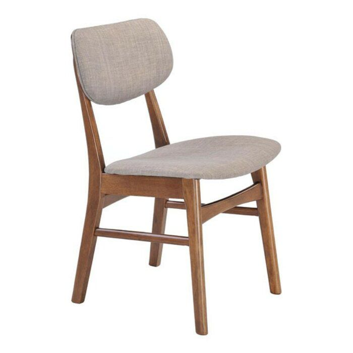 Best Blasingame Upholstered Solid Wood Side Chair In Dove Gray 400 x 300