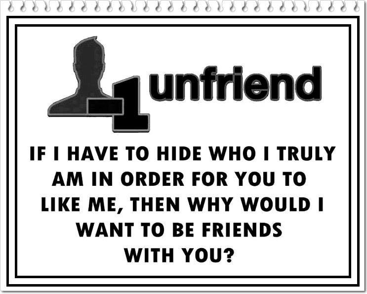 """Unfriend"" Words, Wisdom, Quotes"