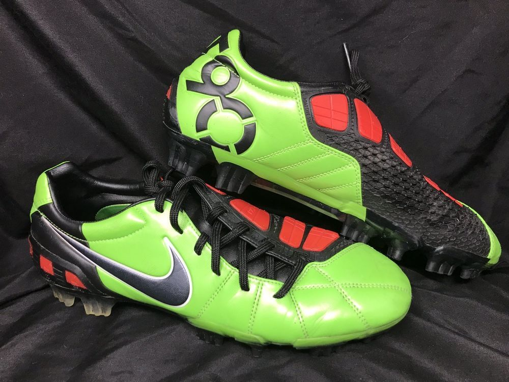 free shipping 7b6bc e64dc Nike Total 90 Laser III FG Soccer Cleats Green Black Red Men s Size 10  Nike