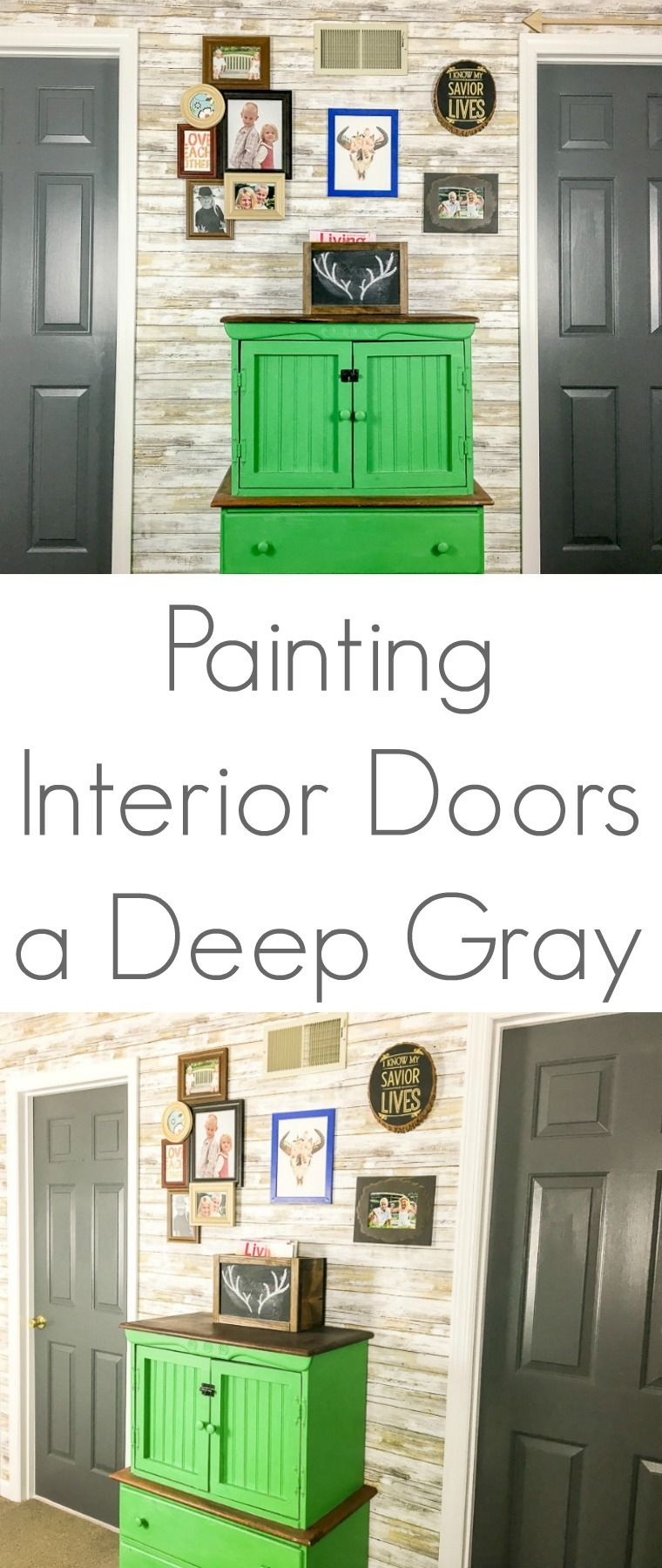 I Love The Change That Simple Paint Makes In This Space By Painting Interior  Doors A