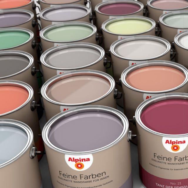 Alpina Feine Farbe, 2,5 Liter, alle Farben Wandfarbe matt eBay - küche bei ebay