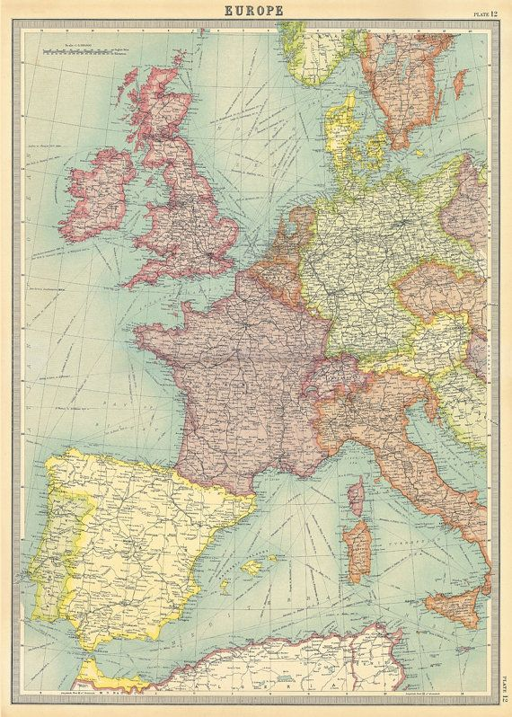 Europe Map, Cavallini & Co. Decorative Wrapping Paper ...