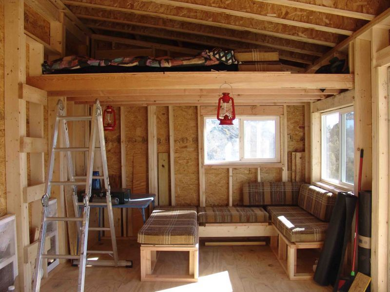 Cabin Loft Wood Small Small Cabin Cabins Pinterest Cabin