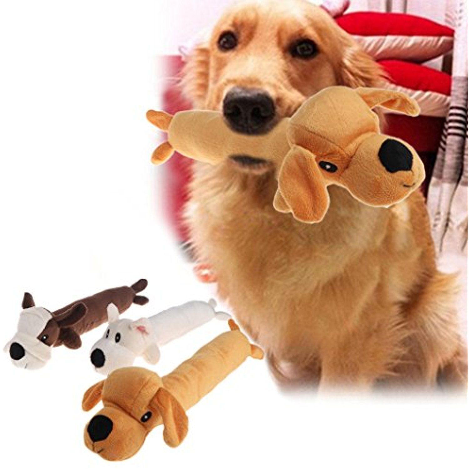 Nnda Co 1pc Squeaky Dog Toy Plush Puppy Dog Chew Toy For Pet And Small Medium Dogs Check Out The Image By Visiting T Plush Dog Toys Cat Toys Dog