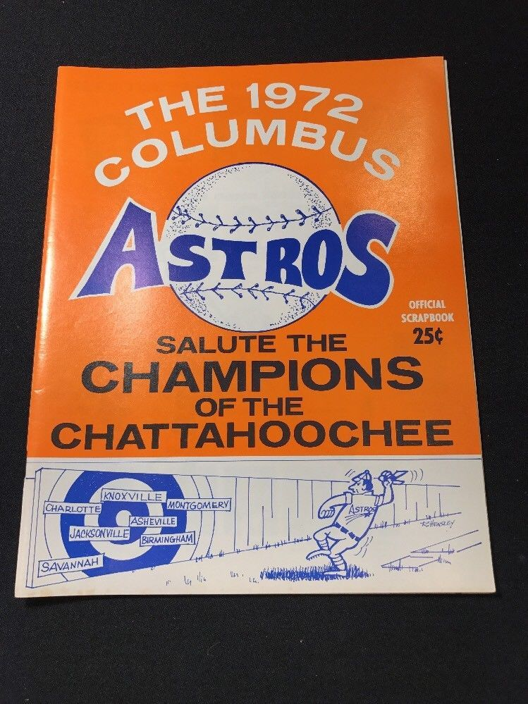 3d276084b 1972 Columbus Astros vs Asheville Orioles Unscored Minor League Baseball  Program in Sports Mem