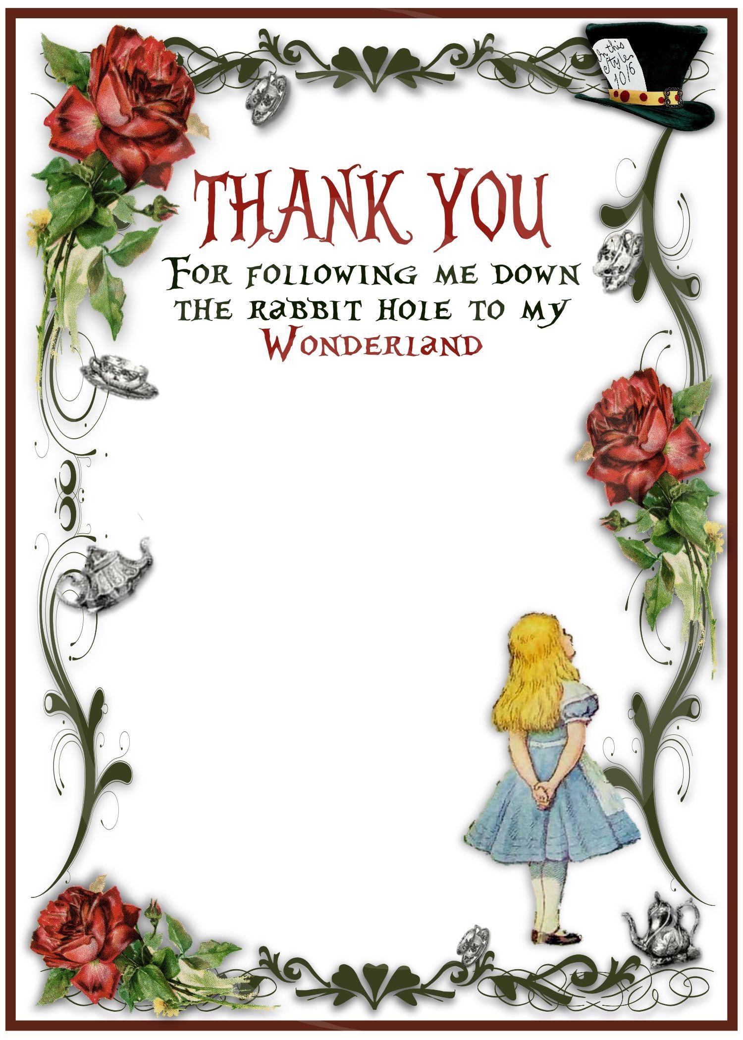 Alice in Wonderland Birthday Party Invitation - Vintage Design ...