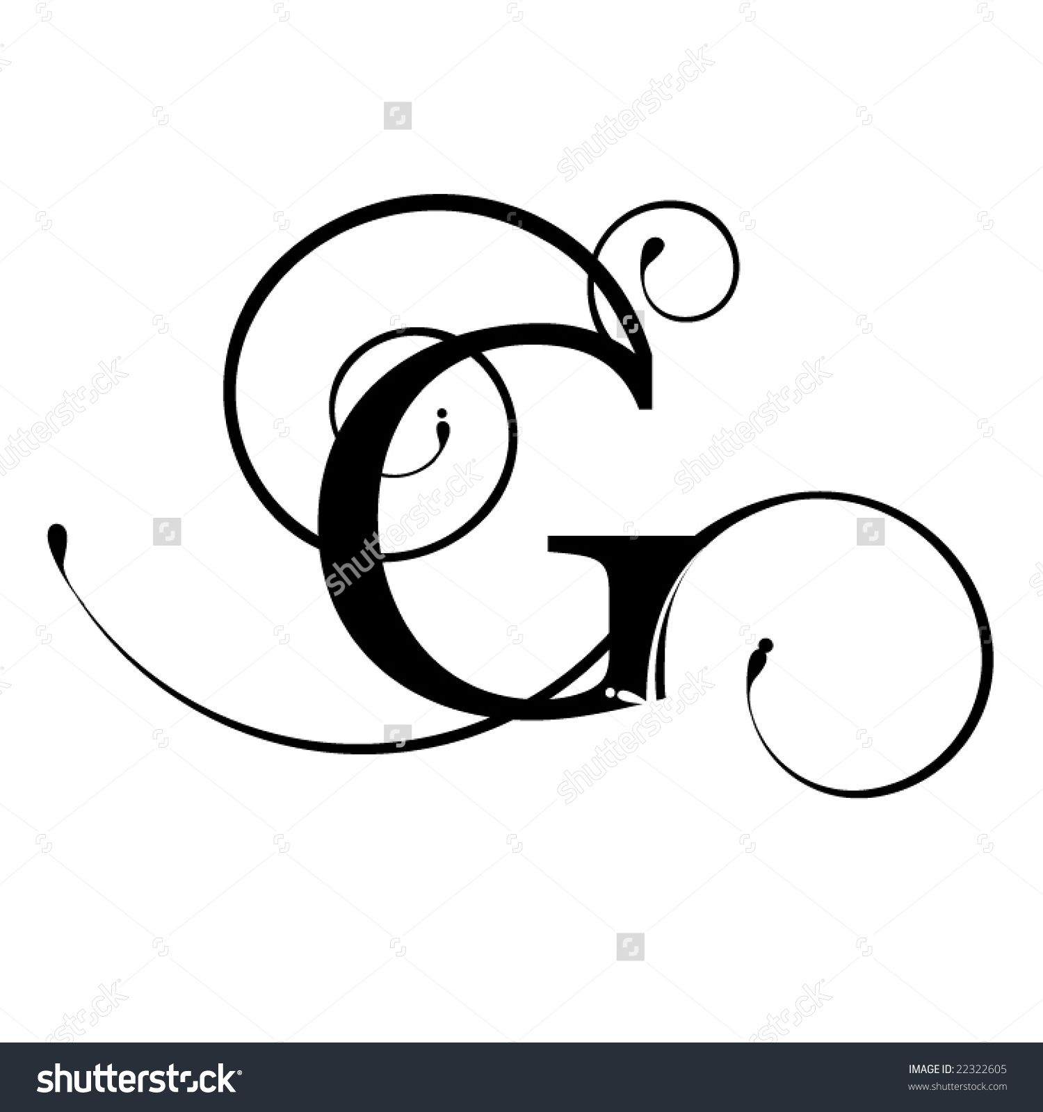 The Letter G In Cursive