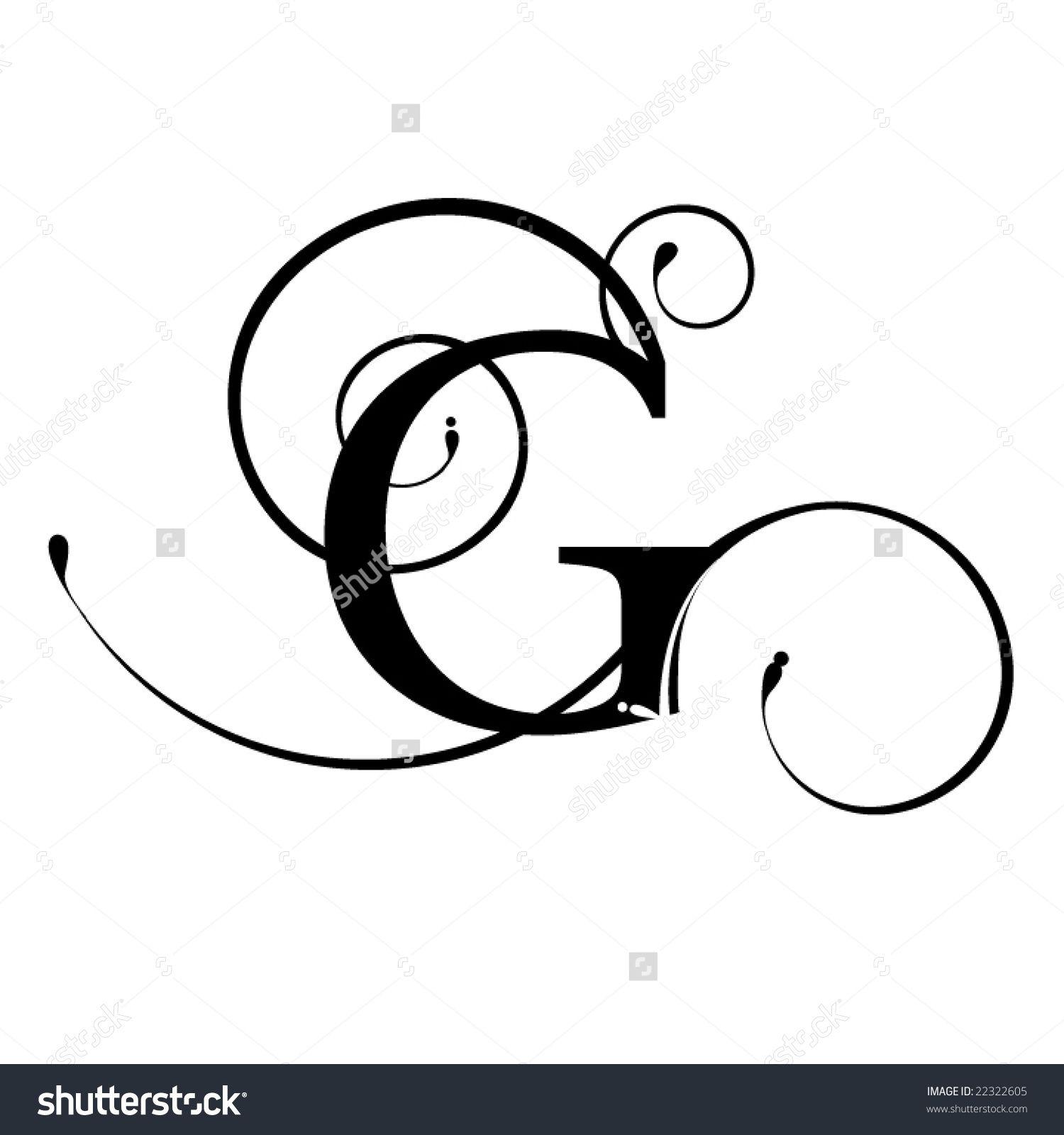fancy script letter g google search