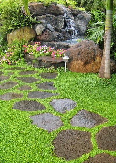 Increíbles ideas de bancas hechas con piedra para tu jardín Jardín - jardines con bancas