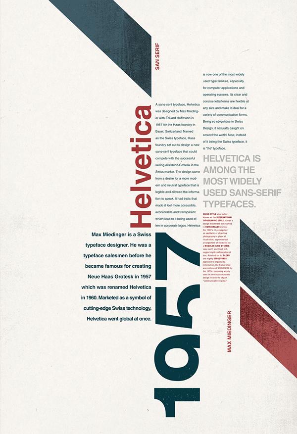 Photo of Helvetica Type Poster