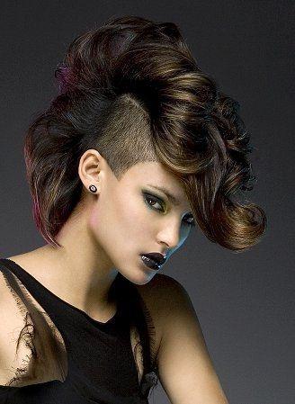 Marvelous Girl Mohawk Mohawk Hairstyles And Mohawks On Pinterest Hairstyles For Men Maxibearus
