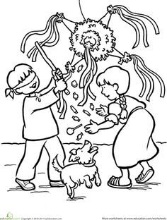 Las Posadas Worksheet Education Com Coloring Pages Preschool Christmas Cute Coloring Pages