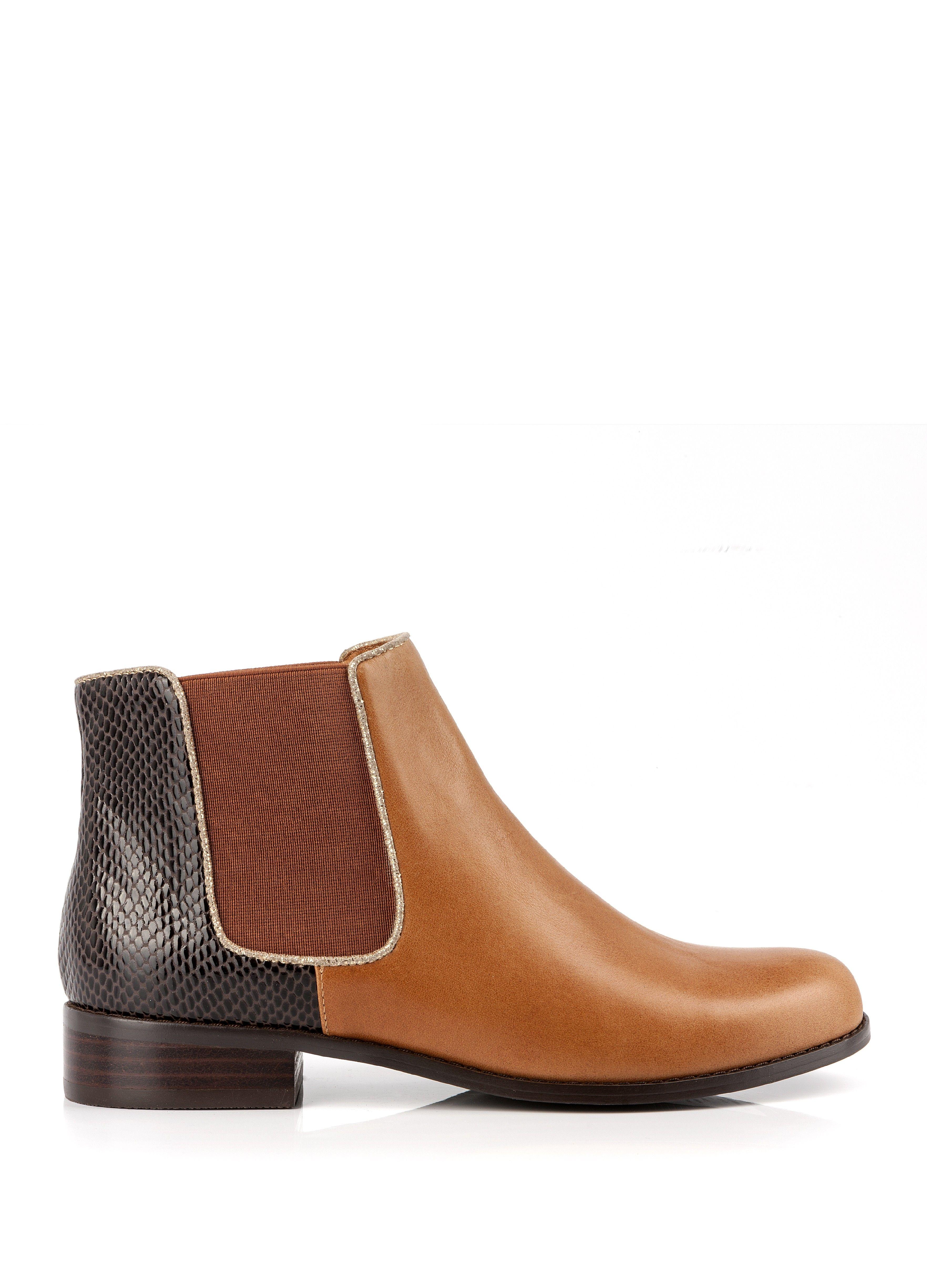 bottine tazo camel - bottines - chaussures femme - femme