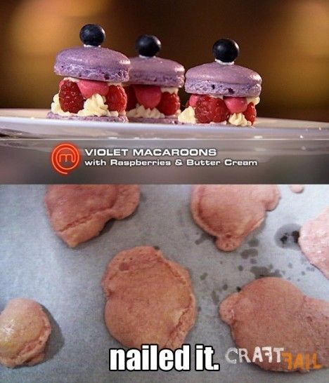 Violet macaroons  nailed it  | Craft fails | Food fails