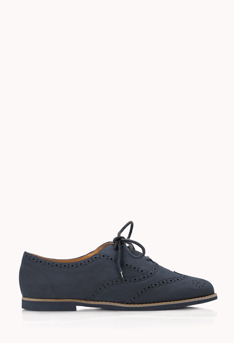 80216517c8b Spiffy Faux Leather Brogues