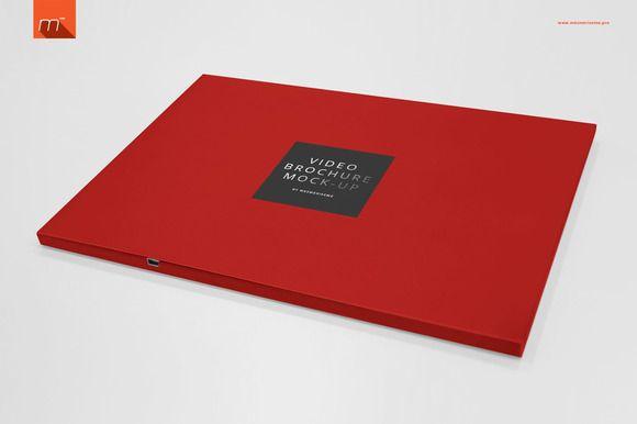 Landscape Video Brochure Mock Up Mocking Brochure Branding Mockups