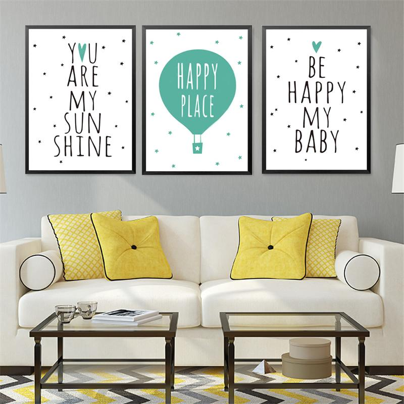 Be Happy My Baby Infant Posters Decorative Wall Painting Quote