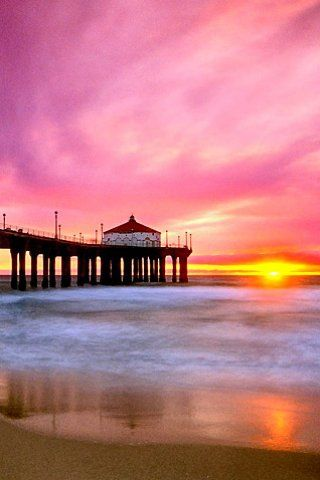 17effea475 A perfectly pink sunset behind the Huntington Beach Pier in Surf City USA   PhotographySerendipity  TravelSerendipity  travel  photography Travel and  ...